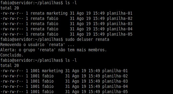 Comando ls - Linux Debian