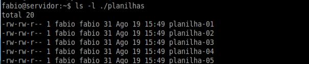 Comando ls no Linux Ubuntu