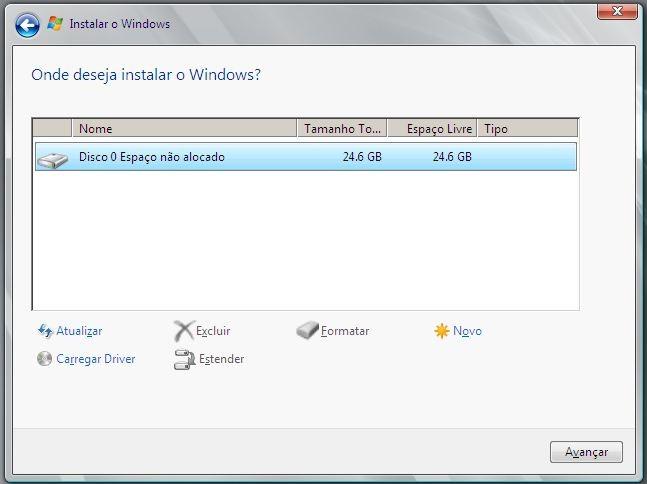 Formatar HD no Windows Server 2008 R2