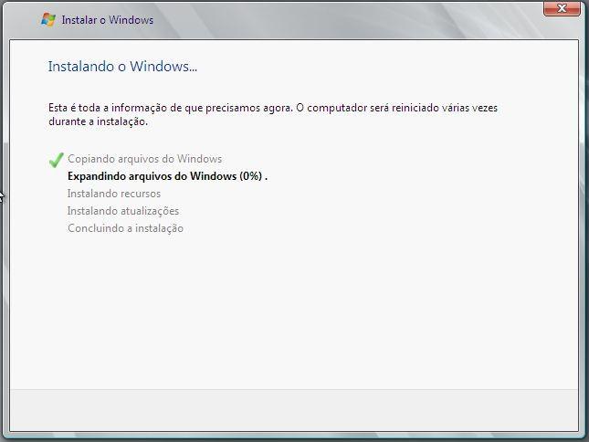 Instalando o Windows Server 2008 R2