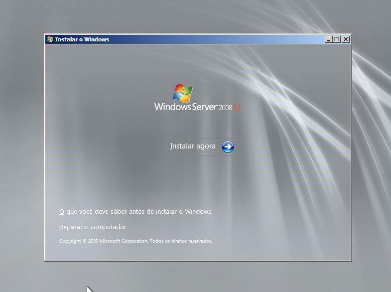Instalar Windows Server 2008 R2