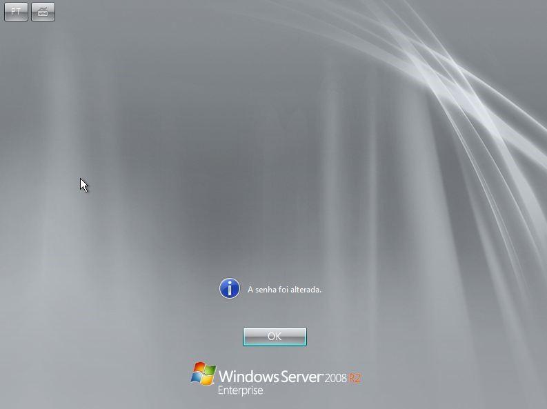 Senha de administrador alterada no Windows Server 2008 R2