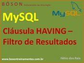 Cláusula Having em MySQL
