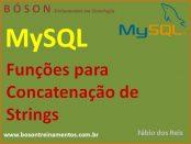 Como concatenar strings com funções em MySQL