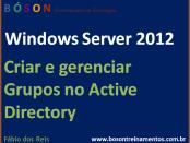 Criar e gerenciar Grupos no Active Directory