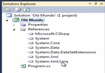Referências em C# via Solution Explorer