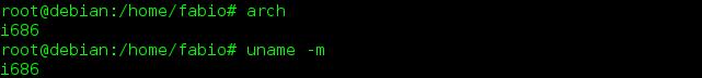 como usar o comando arch no linux