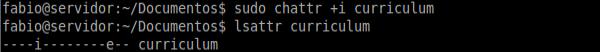 Comando chattr no Linux