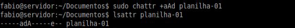 alterar atributos no linux com chattr