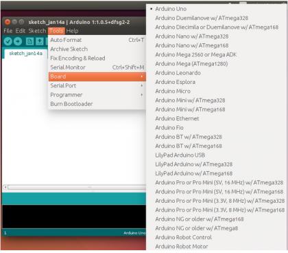 Escolhendo placa no Arduino IDE
