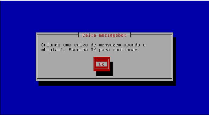 Caixa de diálogo TUI com whiptail no Linux