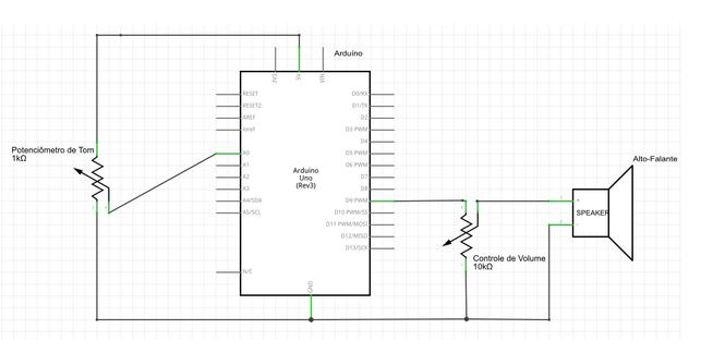 Acionando alto-falante com Arduino