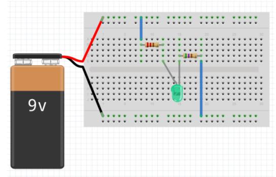 Inserir um LED no fritzing
