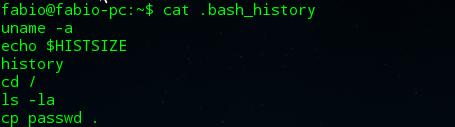 Arquivo bash_history no Linux