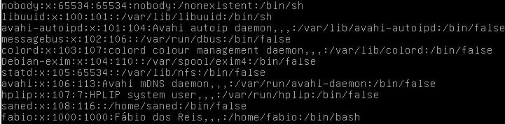 O arquivo /etc/passwd no Linux