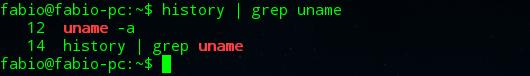 comando history linux