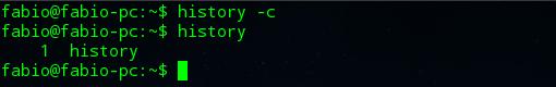 cómo utilizar el comando history en Linux