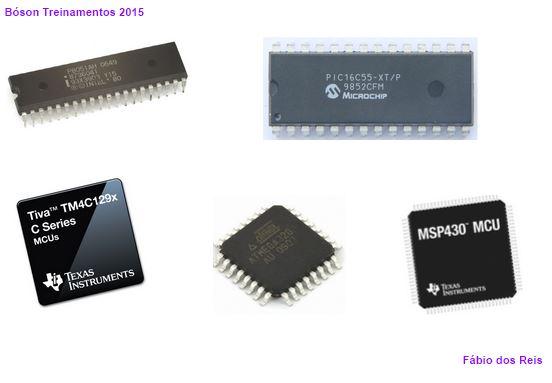 Microcontroladores usados em sistemas embarcados