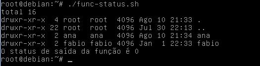 Executando funções via shell scripting no linux