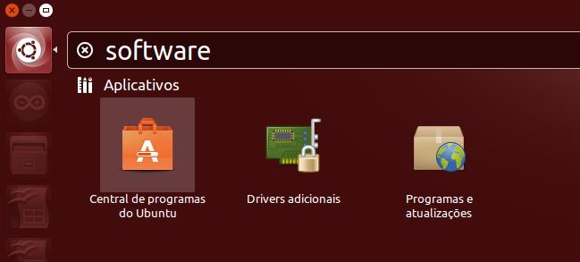 Abrir Central de Programas do Ubuntu