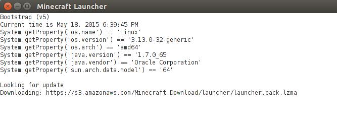 Lançador do Minecraft Ubuntu