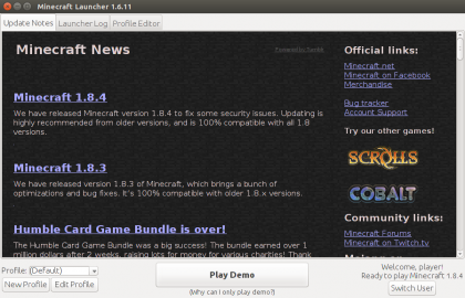 Minecraft Launcher Linux