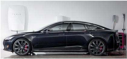 Bateria Powerwall e Automóvel da Tesla Motors