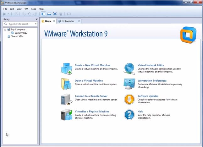 VMware Workstation 9 Interface