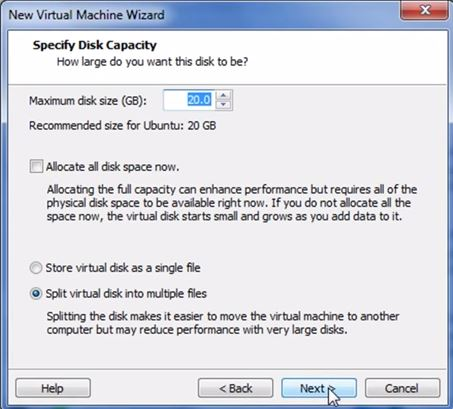 VMware Workstation 9 - Discos virtuais