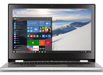 Windows 10 em um notebook