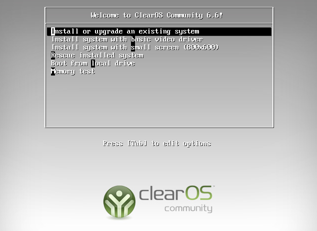 Instalando o ClearOS Community Edition - 01