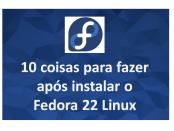 10 Coisas para fazer após instalar o Linux Fedora 22