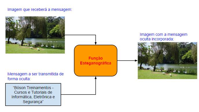 Esteganografia - ocultando mensagens em uma imagem