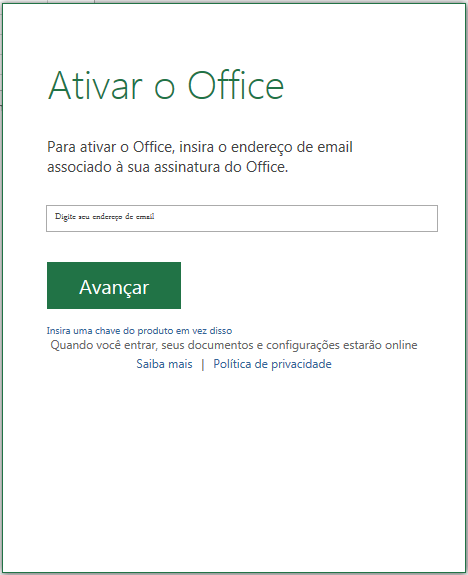 chave do produto office 2016 professional