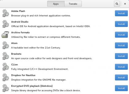 Ferramenta Fedy no Linux Fedora 22