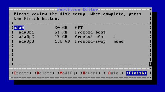 FreeBSD - Particionar e Formatar disco ada0