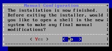 FreeBSD - Finalizar Instalação - Shell