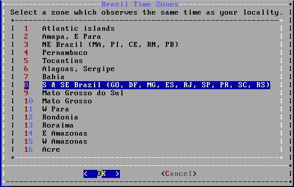 FreeBSD - Fuso Horário do Brasil