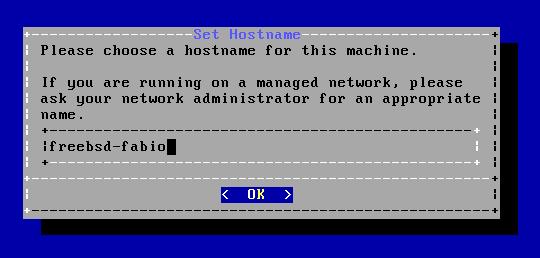 FreeBSD - Hostname