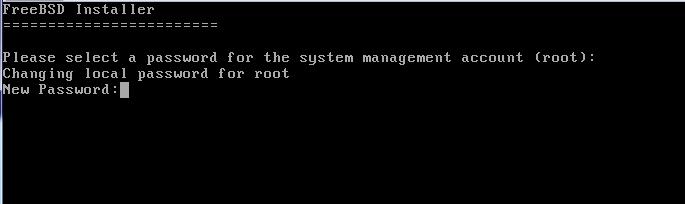 FreeBSD - Senha do root