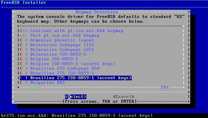FreeBSD - Configura teclado