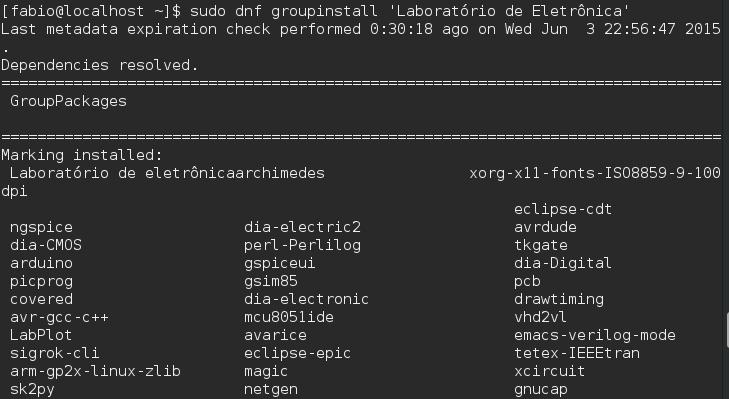 Gerenciador de Pacotes DNF - Fedora - Eletronica