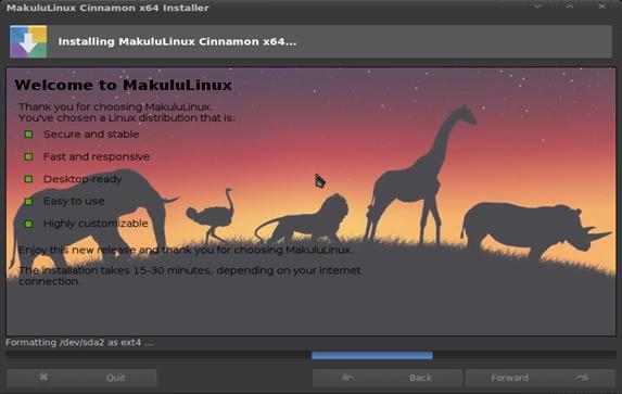 Instalando o Linux Makululinux Cinnamon