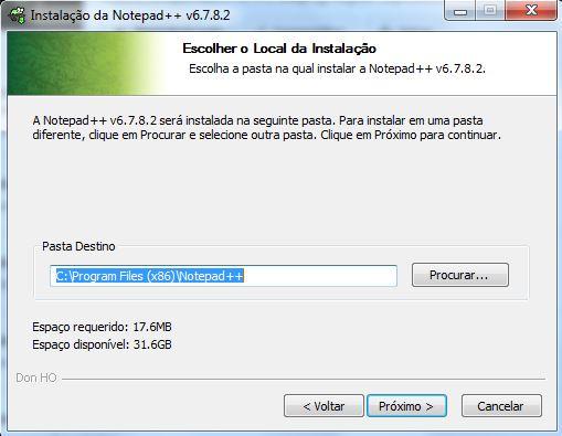 Instalação do editor de textos Notepad++ 03