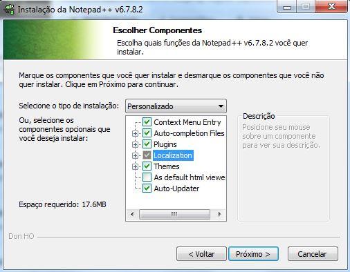 Instalação do editor de textos Notepad++ 04