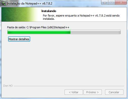Instalação do editor de textos Notepad++ 06