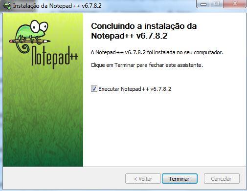 Instalação do editor de textos Notepad++ 07