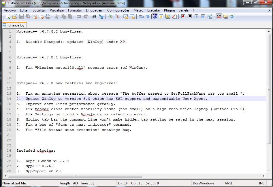 Instalação do editor de textos Notepad++ 08