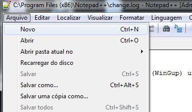 Instalação do editor de textos Notepad++ 10