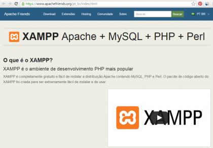 Curso de PHP - XAMPP - Site